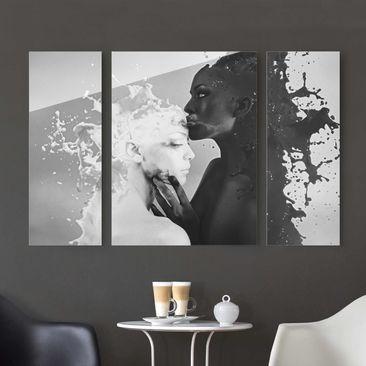 Produktfoto Glasbild mehrteilig - Milch & Kaffee...