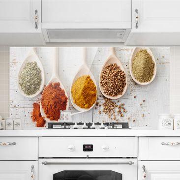 Immagine del prodotto Paraschizzi in vetro - Wooden spoons with spices - Orizzontale 1:2