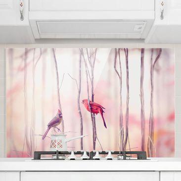 Immagine del prodotto Paraschizzi in vetro - Birds on branches - Orizzontale 2:3