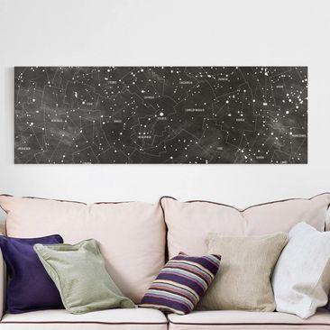 Immagine del prodotto Stampa su tela - Constellation map panel optics - Orizzontale 1:2