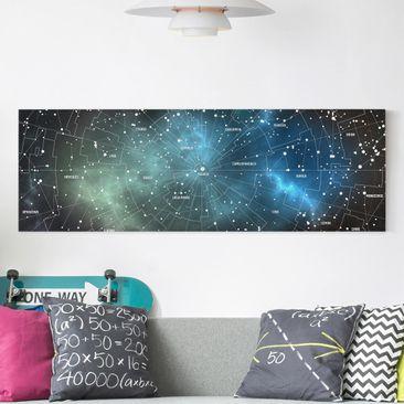 Produktfoto Leinwandbild - Sternbilder Karte...