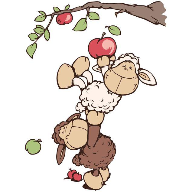 Produktfoto Wandtattoo NICI Lenny und Jolly Mäh pflücken Äpfel