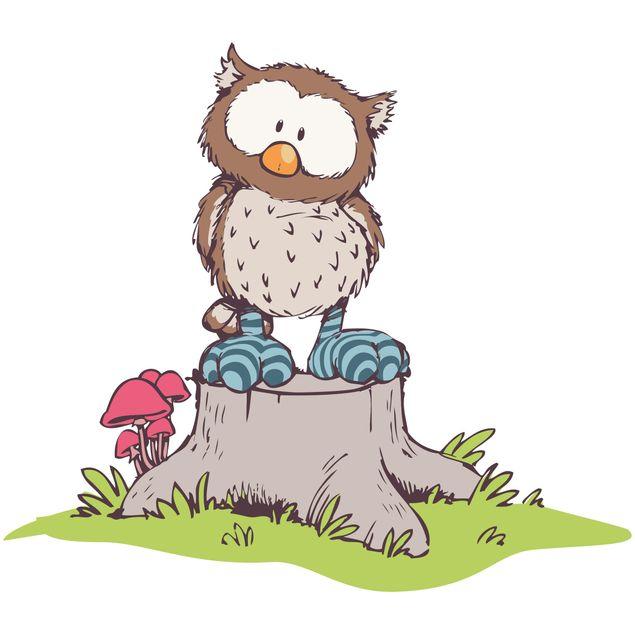 Produktfoto Wandtattoo NICI Oscar Owl auf Baumstamm