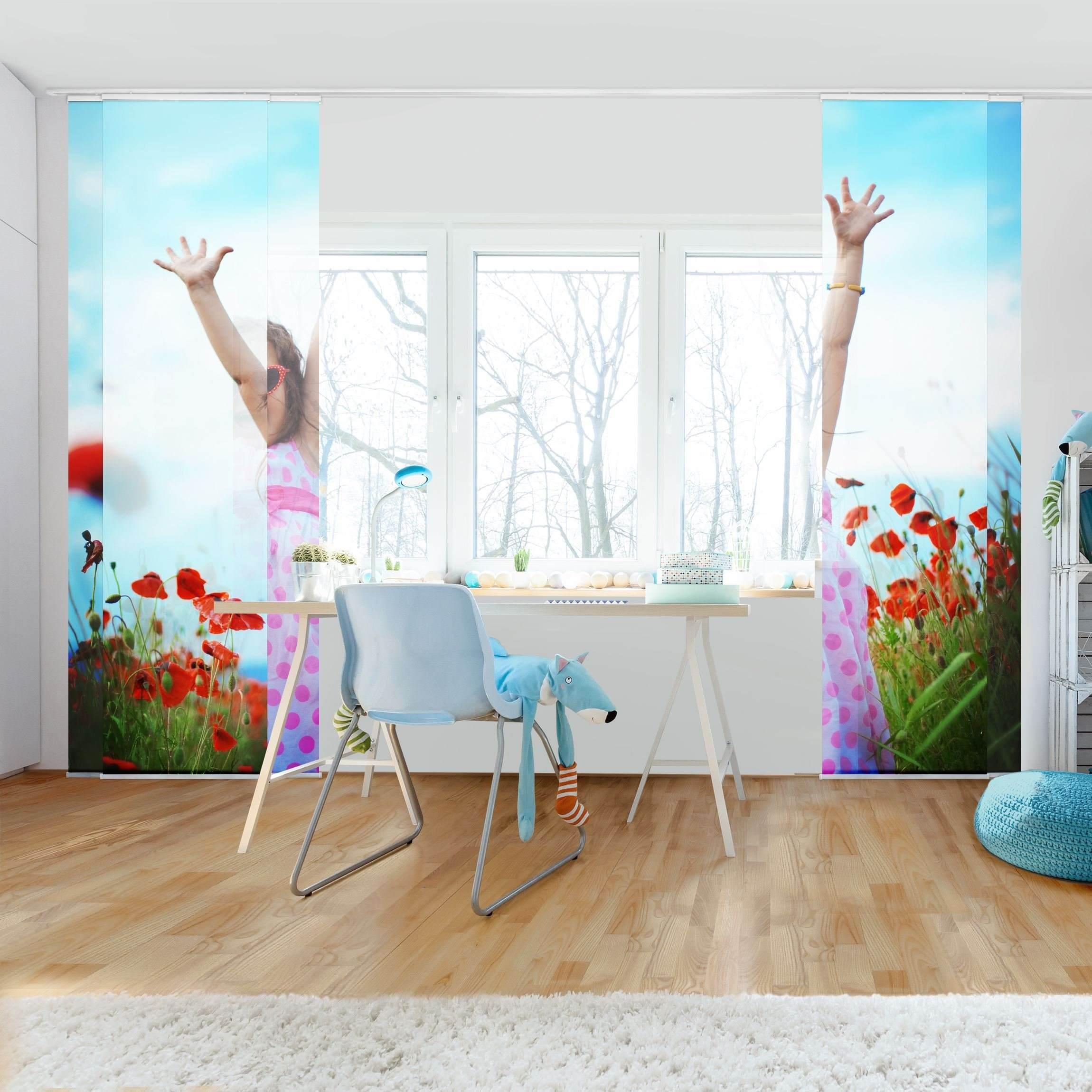 schiebegardinen set wunschbild 5 fl chenvorh nge. Black Bedroom Furniture Sets. Home Design Ideas