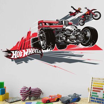 Produktfoto Wandtattoo Hot Wheels Motorradsprung