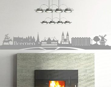 Produktfoto Wall Decal No.FB23 Bremen Skyline I
