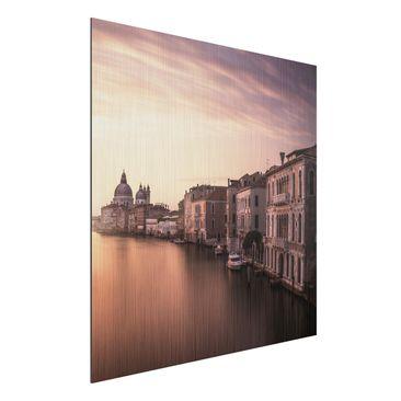Produktfoto Aluminium Print gebürstet - Abendstimmung in Venedig - Quadrat 1:1