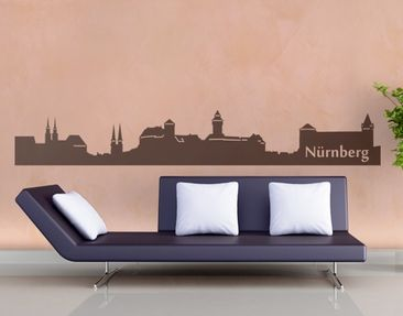 Product picture Wall Decal No.EG40 Nuremberg Skyline II