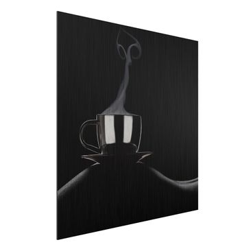Produktfoto Aluminium Print gebürstet - Coffee in Bed - Quadrat 1:1