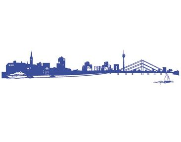 Product picture Wall Decal No.FB34 Dusseldorf Skyline I