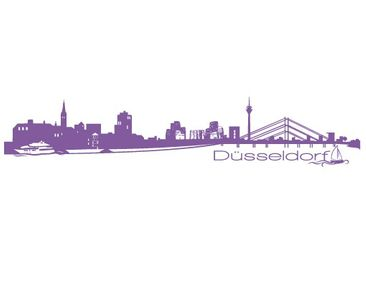 Product picture Wall Decal No.FB25 Dusseldorf Skyline II
