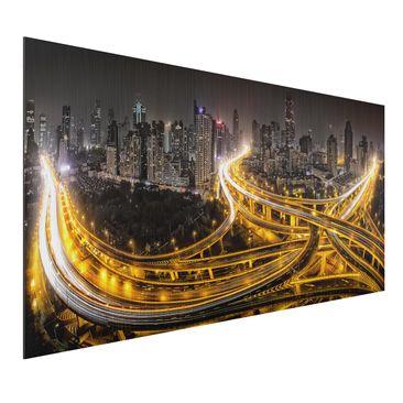 Produktfoto Aluminium Print gebürstet - Shanghai at...