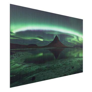 Immagine del prodotto Stampa su alluminio spazzolato - Aurora In Iceland - Orizzontale 2:3