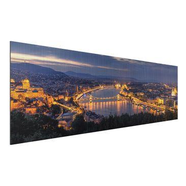Produktfoto Aluminium Print gebürstet - Blick über Budapest - Panorama Querformat
