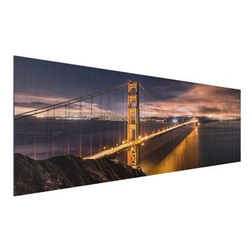 Produktfoto Aluminium Print gebürstet - Golden Gate to Stars - Panorama Querformat