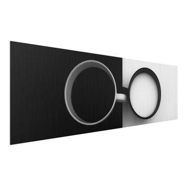 Produktfoto Aluminium Print gebürstet - Gegensätze - Panorama Querformat