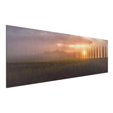 Immagine del prodotto Stampa su alluminio spazzolato - Dawn Tuscany - Panoramico