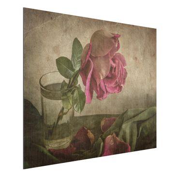 Produktfoto Aluminium Print gebürstet - Tear of a Rose - Querformat 3:4