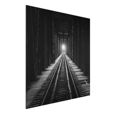 Produktfoto Aluminium Print - Bahngleise - Quadrat 1:1