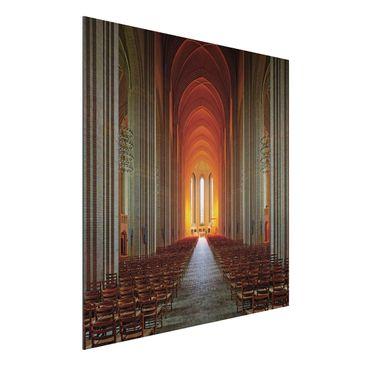 Produktfoto Aluminium Print - Grundtvigskirche in Kopenhagen - Quadrat 1:1