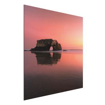 Immagine del prodotto Stampa su alluminio - Natural Bridge In The Sunset - Quadrato 1:1