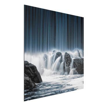 Immagine del prodotto Stampa su alluminio - Waterfall In Finland - Quadrato 1:1