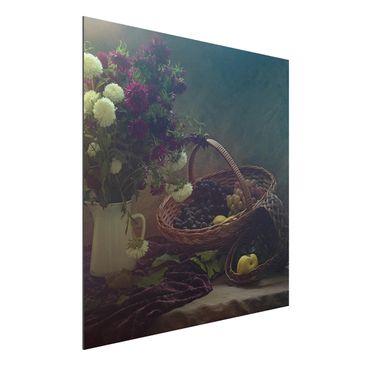 Produktfoto Aluminium Print - Stillleben mit Blumenvase - Quadrat 1:1