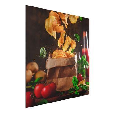 Immagine del prodotto Stampa su alluminio - Tomato Basil Snack - Quadrato 1:1
