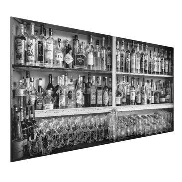 Immagine del prodotto Stampa su alluminio - Bar Black White - Orizzontale 1:2