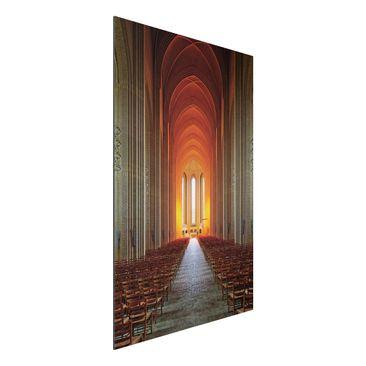 Produktfoto Aluminium Print - Grundtvigskirche in Kopenhagen - Hochformat 3:2