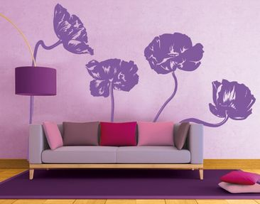 Product picture Wall Decal No.FB31 Poppy Set I