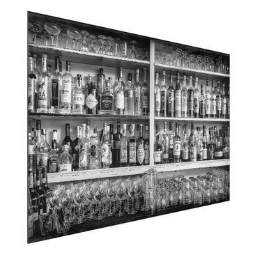 Produktfoto Aluminium Print - Bar Schwarz Weiß - Querformat 2:3