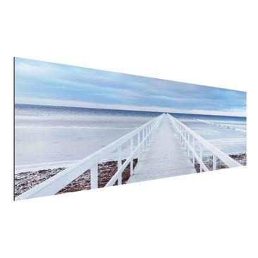 Produktfoto Aluminium Print - Brücke in Schweden -...