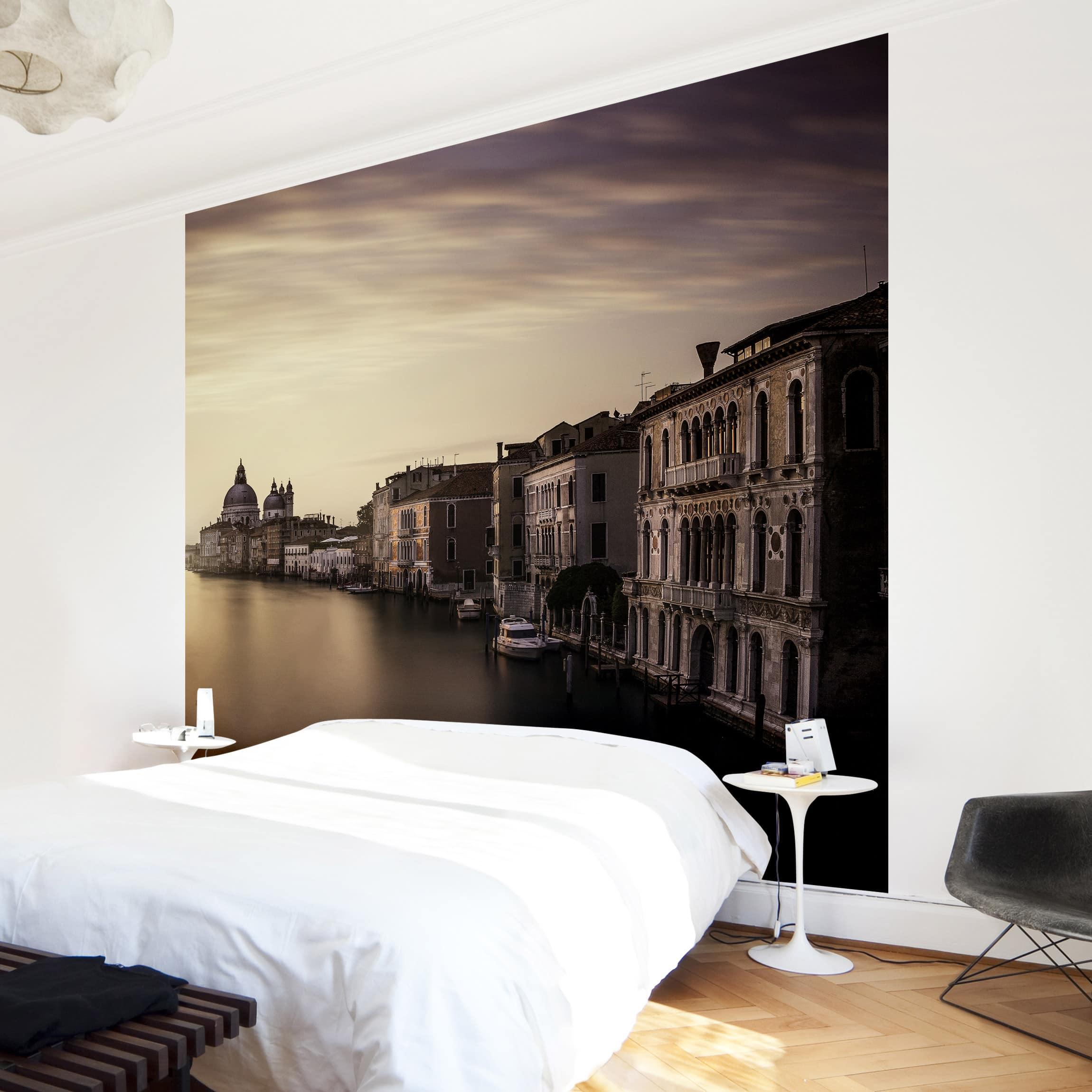 tapete selbstklebend abendstimmung in venedig wandbild quadratisch. Black Bedroom Furniture Sets. Home Design Ideas