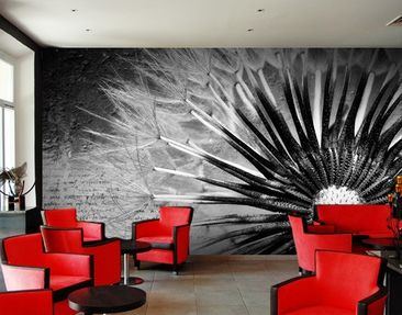 Produktfoto Photo Wall Mural Black & White Dandelion
