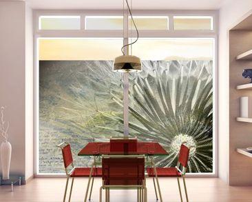 Produktfoto Fensterfolie - Sichtschutz Fenster Pusteblume Schwarz & Weiß - Fensterbilder