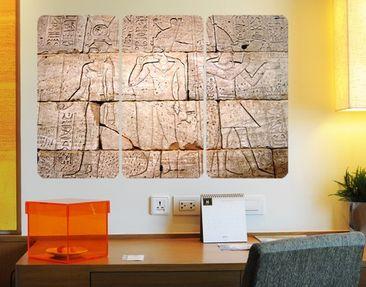 Produktfoto Selbstklebendes Wandbild Egypt Relief Triptychon
