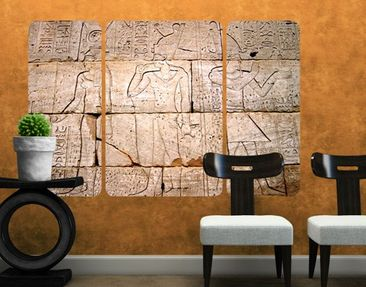 Produktfoto Wall Mural The Egypt Relief Triptych