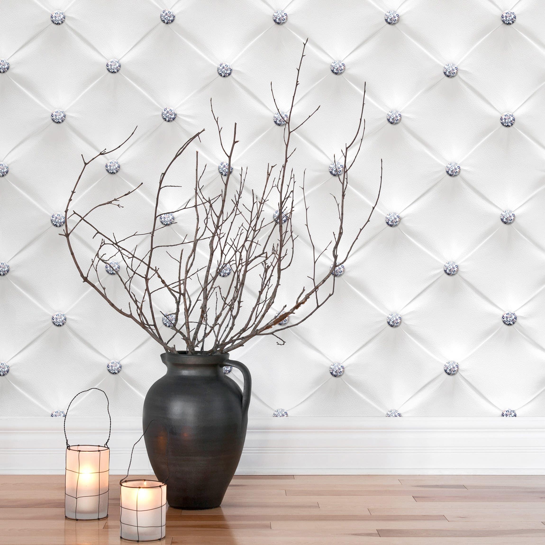 tapete selbstklebend diamant wei luxus wandbild querformat. Black Bedroom Furniture Sets. Home Design Ideas