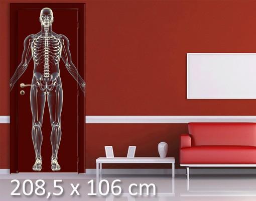 Produktfoto TürTapete Röntgenmensch in Rot