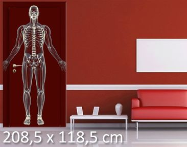 Product picture Door Photo Wall Mural Human X-Ray in Red