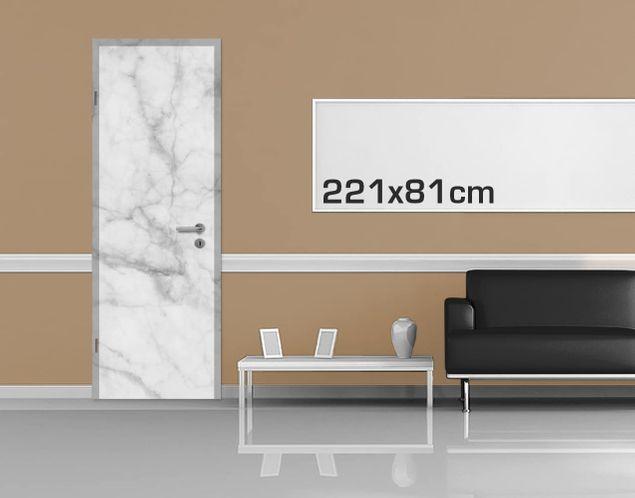 Door Photo Wall Mural Bianco Carrara