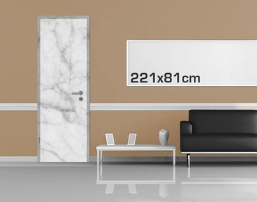 Product picture Door Photo Wall Mural - Bianco Carrara