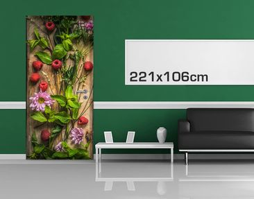 Product picture Door Photo Wall Mural - Flowers...