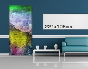 Product picture Door Photo Wall Mural - Colorful Sprayed...