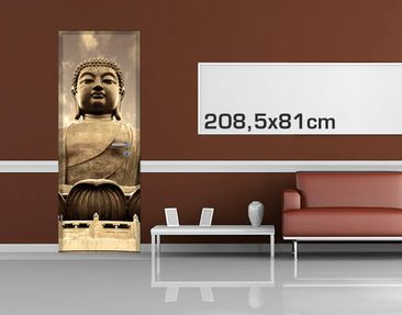 Product picture Door Photo Wall Mural - Big Buddha Sepia