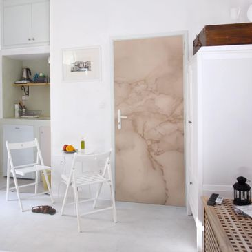 Product picture Door Photo Wall Mural - Marble Look Gray...