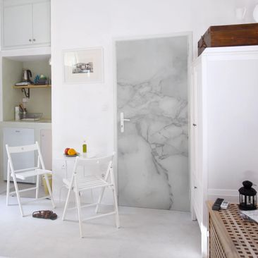 Produktfoto Door Photo Wall Mural - Marble Look...