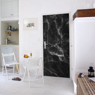 Produktfoto Door Photo Wall Mural - Nero Carrara