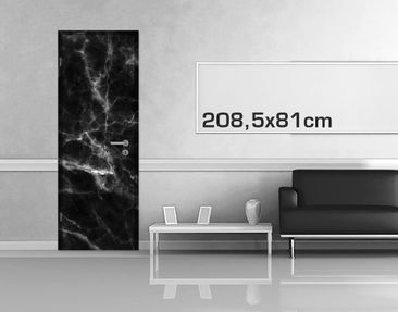 Product picture Door Photo Wall Mural - Nero Carrara